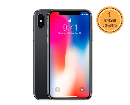 iPhone X 64GB Black 2369 ლარად!
