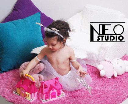 სასურველი თემატიკის სტუდიური ფოტოსესია 21 ლარიდან NEO KIDS studio-სგან