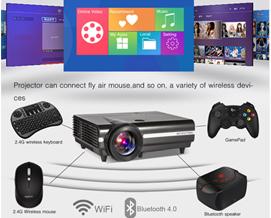 პროექტორი BYINTEK MOON BT96Plus Android Wifi Smart Video LED Projector - 1 წლიანი გარანტიით