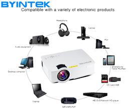 პროექტორი BYINTEK BT140 800 x 480 HD 150ANSI LED 20,000Hrs HDMI USB - 1 წლიანი გარანტიით