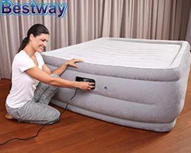 გასაბერი ლეიბი Bestway 67536 (en) Night Rest Queen Size Air Bed (203 x 152 x 56 სმ)