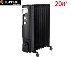 ზეთის გამათბობელი ILITEK IL 9209 Black - 1 წლიანი გარანტიით