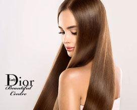 ჯანსაღი და ბზინვარე თმისთვის! კერატინით თმის გასწორება 33 ლარიდან სილამაზის სალონში «Lady Dior»
