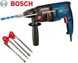 BOSCH-ის პერფორატორი+საჩუქრები GBH 2000 SDS-Plus (061125A4K6) - 2 წლიანი გარანტიით