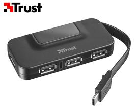 USB ჰაბი TRUST OILA USB-C HUB (21320) BLACK - 1 წლიანი  გარანტიით