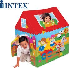 საბავშვო გასაბერი კარავი Intex Jungle Fun Cottage Wendy House 45642