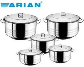 239 ლარად ქვაბების ნაკრები Arian Deep Cooking Pot 10 pcs Set