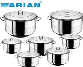289 ლარად ქვაბების ნაკრები Arian Deep Cooking Pot 14 pcs Set