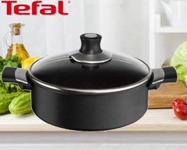 ქვაბი Tefal Talent Shallowpan 26cm with Lid Black E4407112