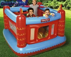 საბავშვო გასაბერი კარავი Bestway BW93504 Fisher-Price Childrens Inflatable Bouncetastic Bouncy Castl