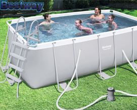 კარკასული აუზი Bestway 56456 Power Steel Above Ground Frame Pool