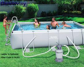 კარკასული აუზი BESTWAY 282x196x84cm Power Steel Rectangular Frame Pool 56629